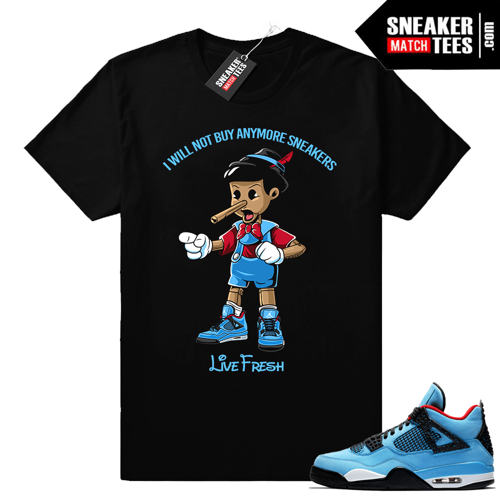 Jordan 4 Cactus Jack Travis Scott shirt
