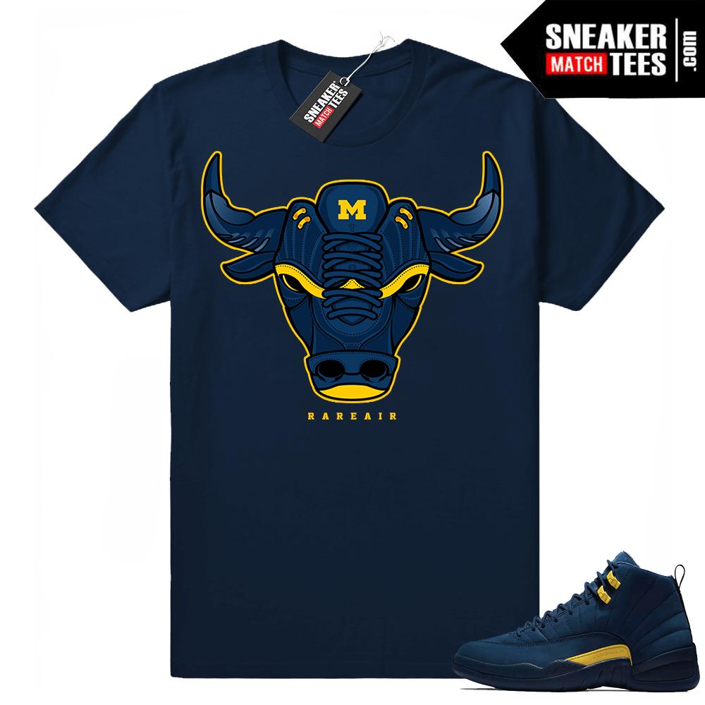 Michigan 12s Navy t shirt