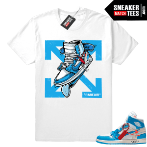 Off white Jordan 1 UNC shirt match