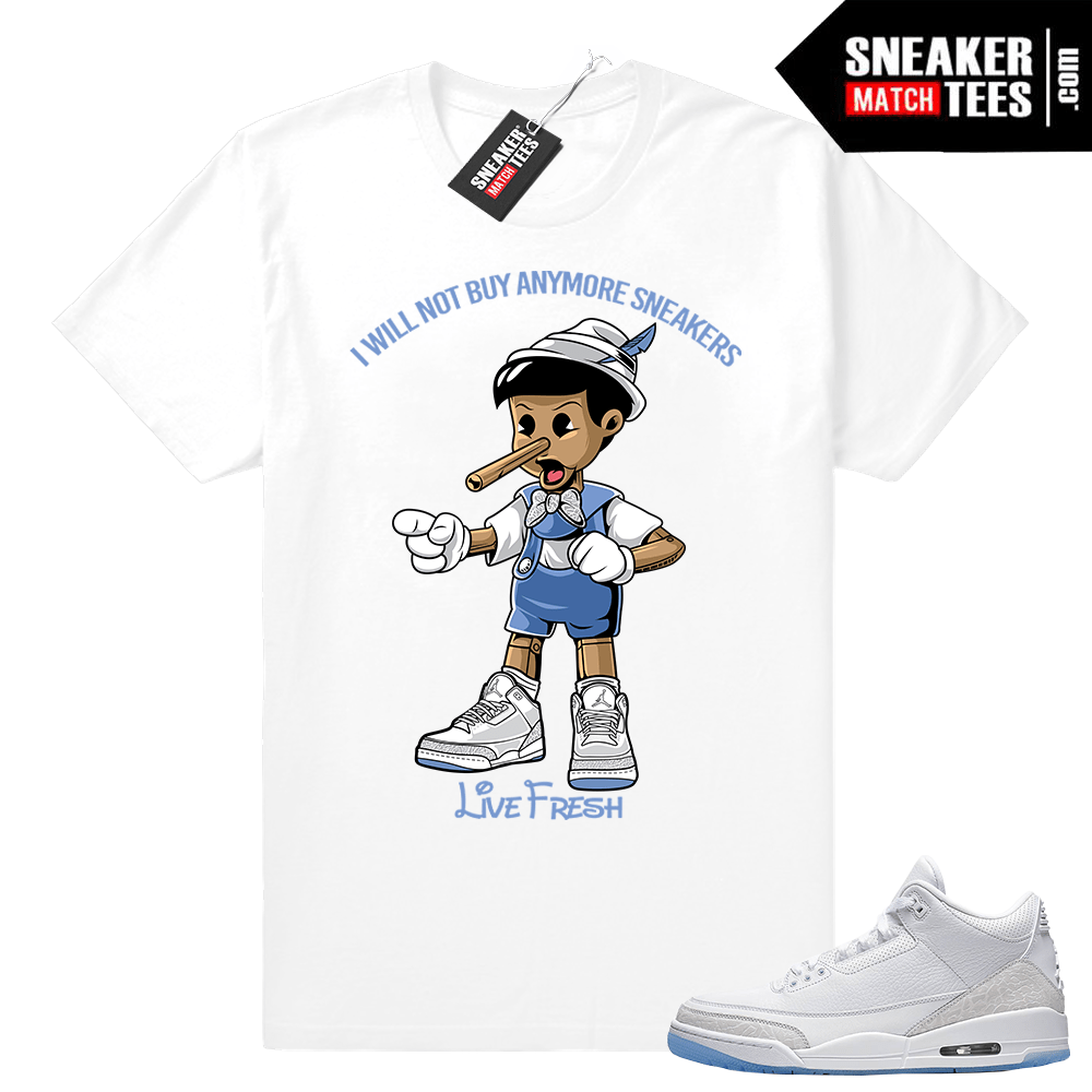 0703218ec6e6ba Air Jordan 3 Pure White shirt outfit - Sneaker Match Tees