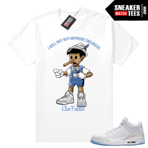 Air Jordan 3 Pure White shirt outfit