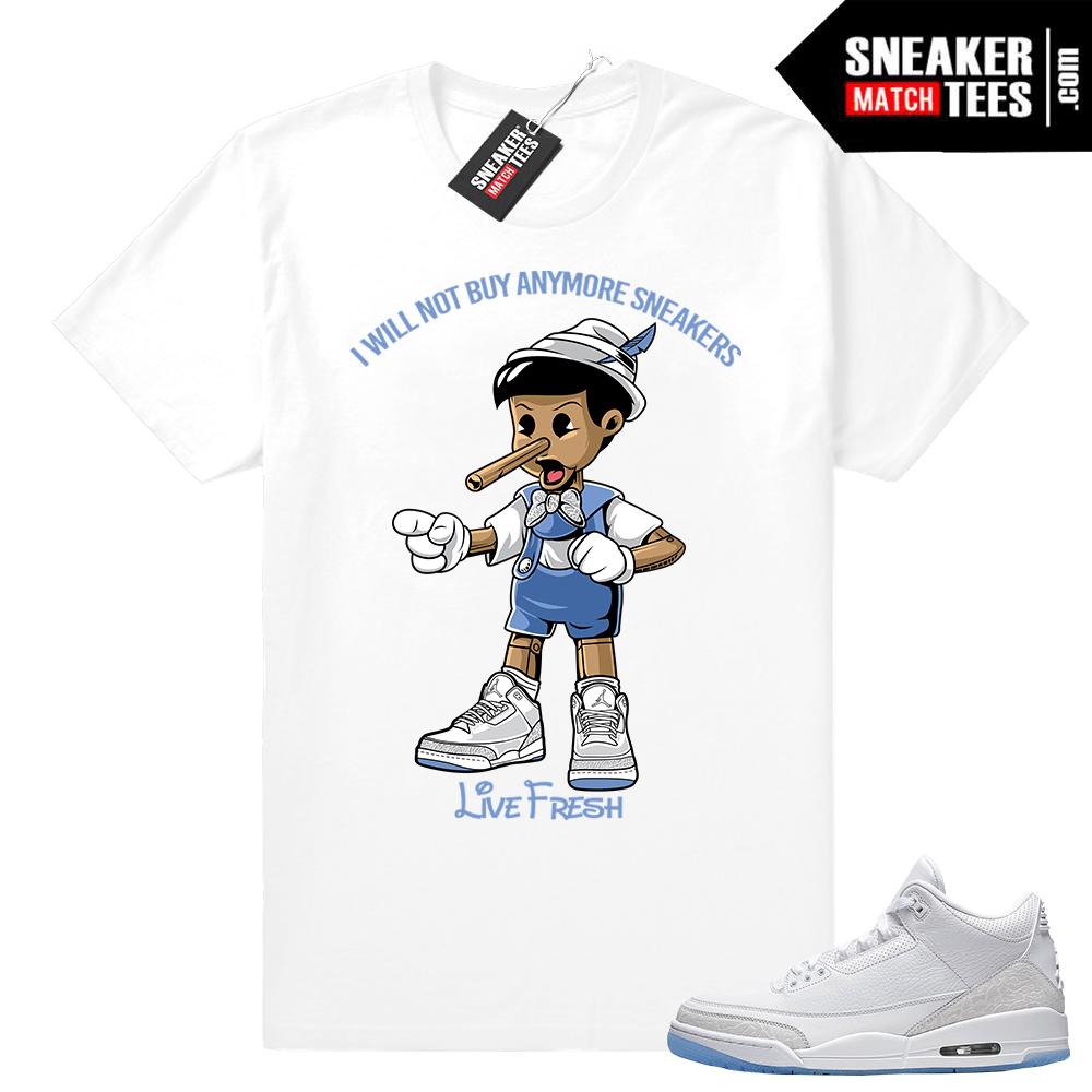 Air Jordan 3 Pure White shirt outfit