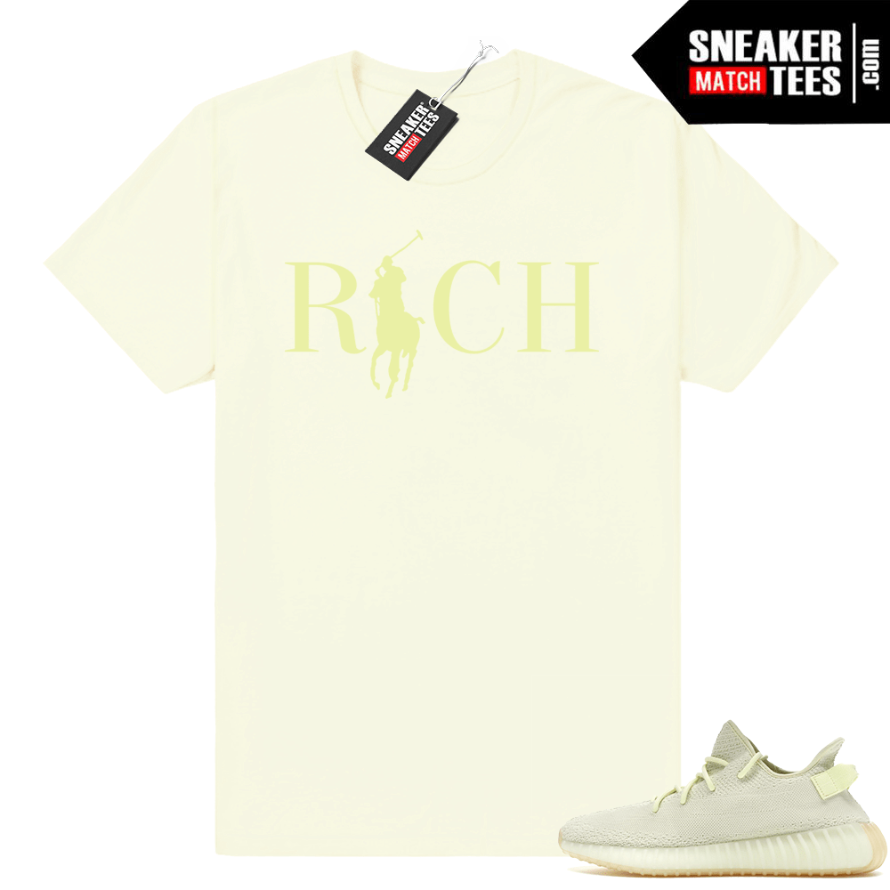 Butter Yeezy Boost match tee