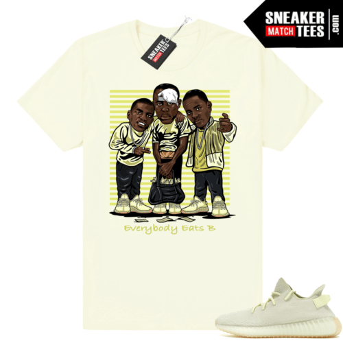Butter yeezy shirt matching sneakers