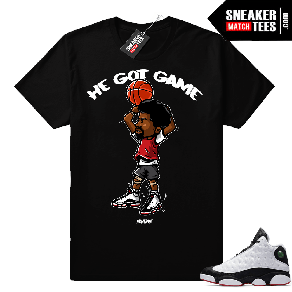 Jordan 13 He Got Game shirt match sneakers