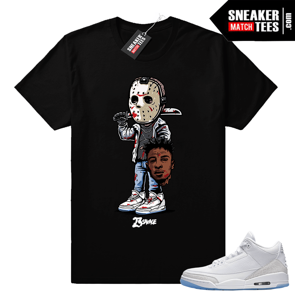 Pure White Air Jordan 3 Shirt _black