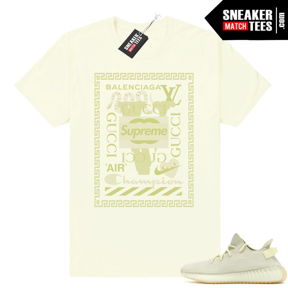 Yeezy Boost 350 Butter Luxury Mashup shirt