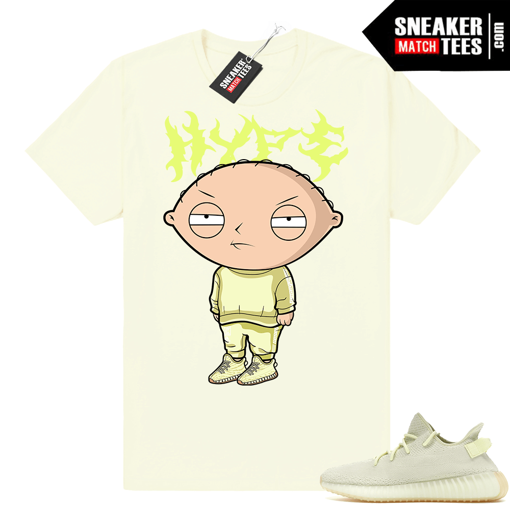 Yeezy Boost 350 V2 match butter shirt