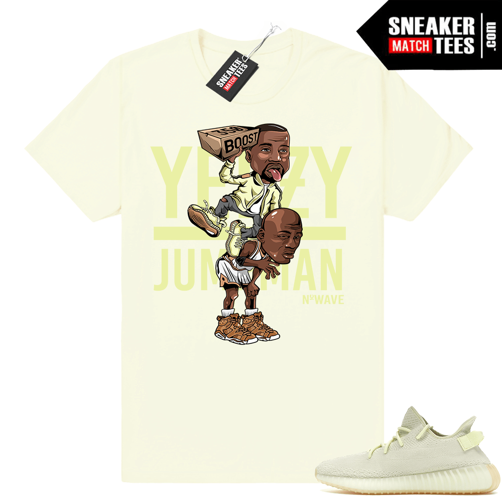 Yeezy Over Jumpman Butter shirt