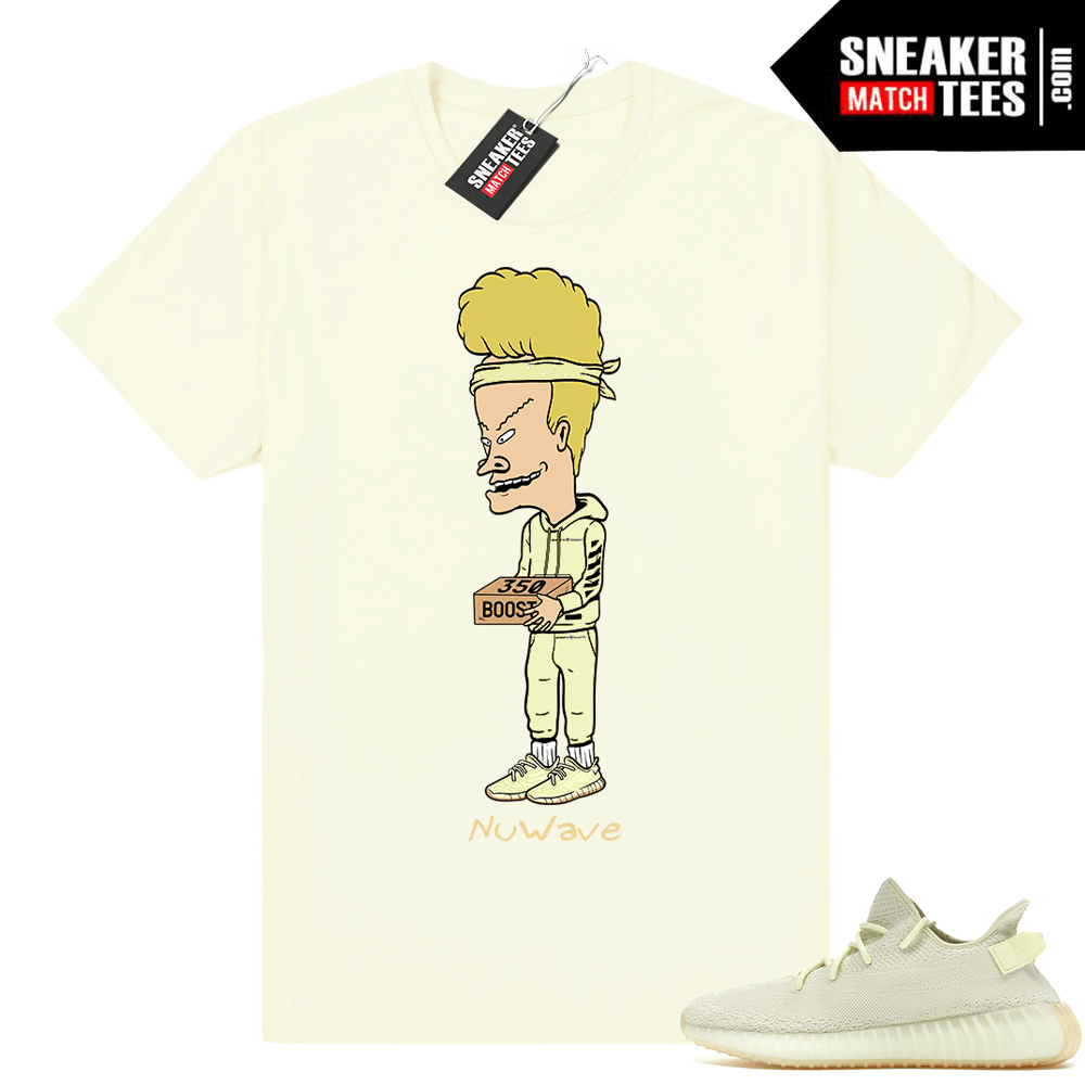 Yeezy boost 350 Butter Beavis The Score shirt