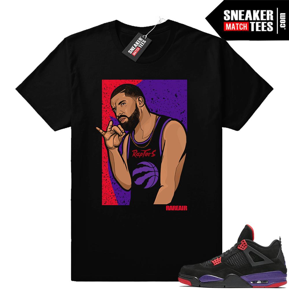 cheaper a2965 9757b Drake Raptor 4s Sneaker tee • Drake Raptors • Black Tee