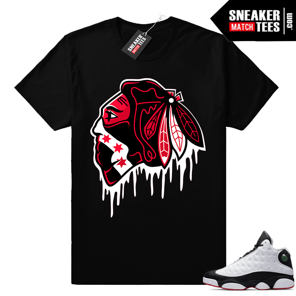 He got game 13 Black Hawks Drip t shirt
