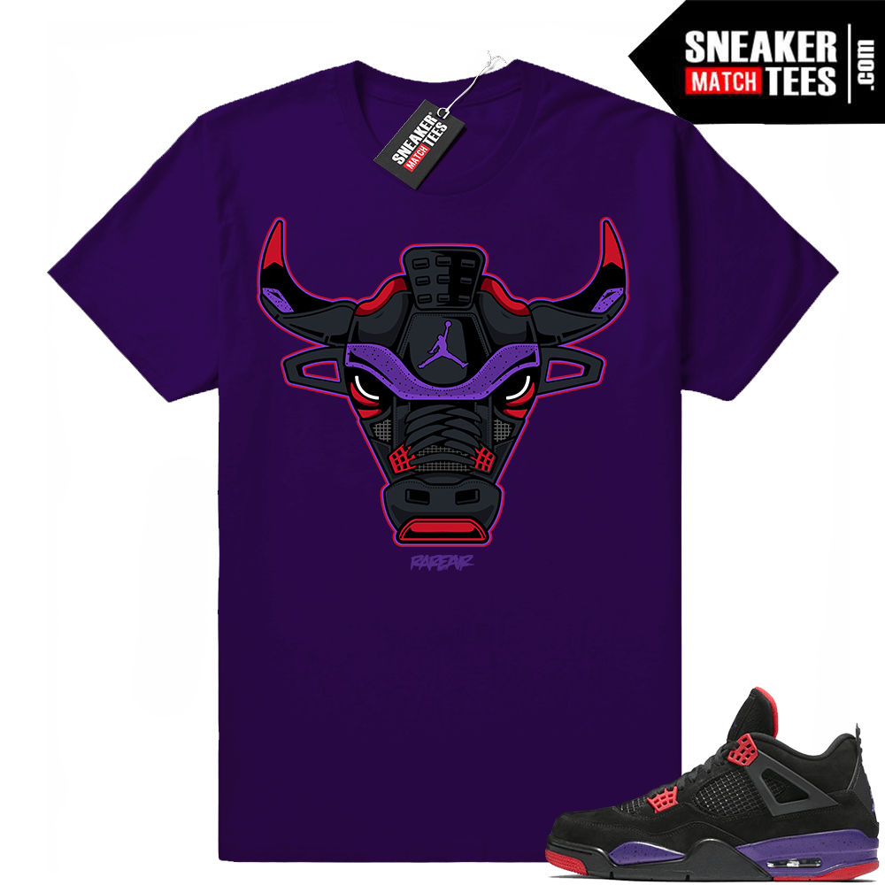 Jordan 4 Court Purple Sneaker tees match