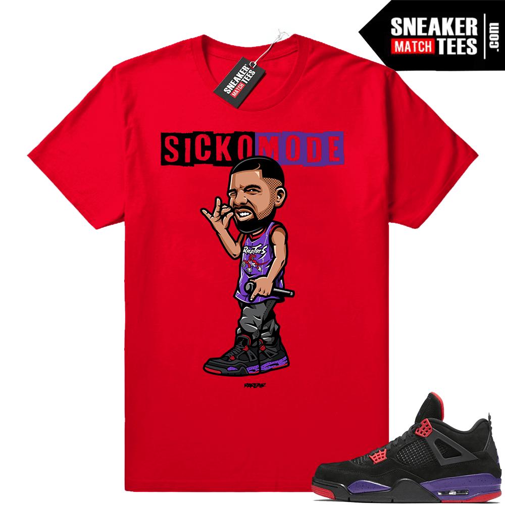 Jordan 4 Raptors sneaker match shirt