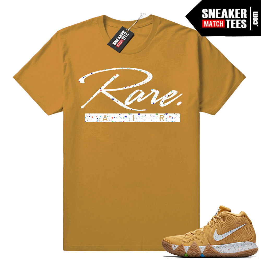 brand new 923f8 0c9ee Kyrie 4 Cereal Pack shirt • Rare Air • Wheat tee