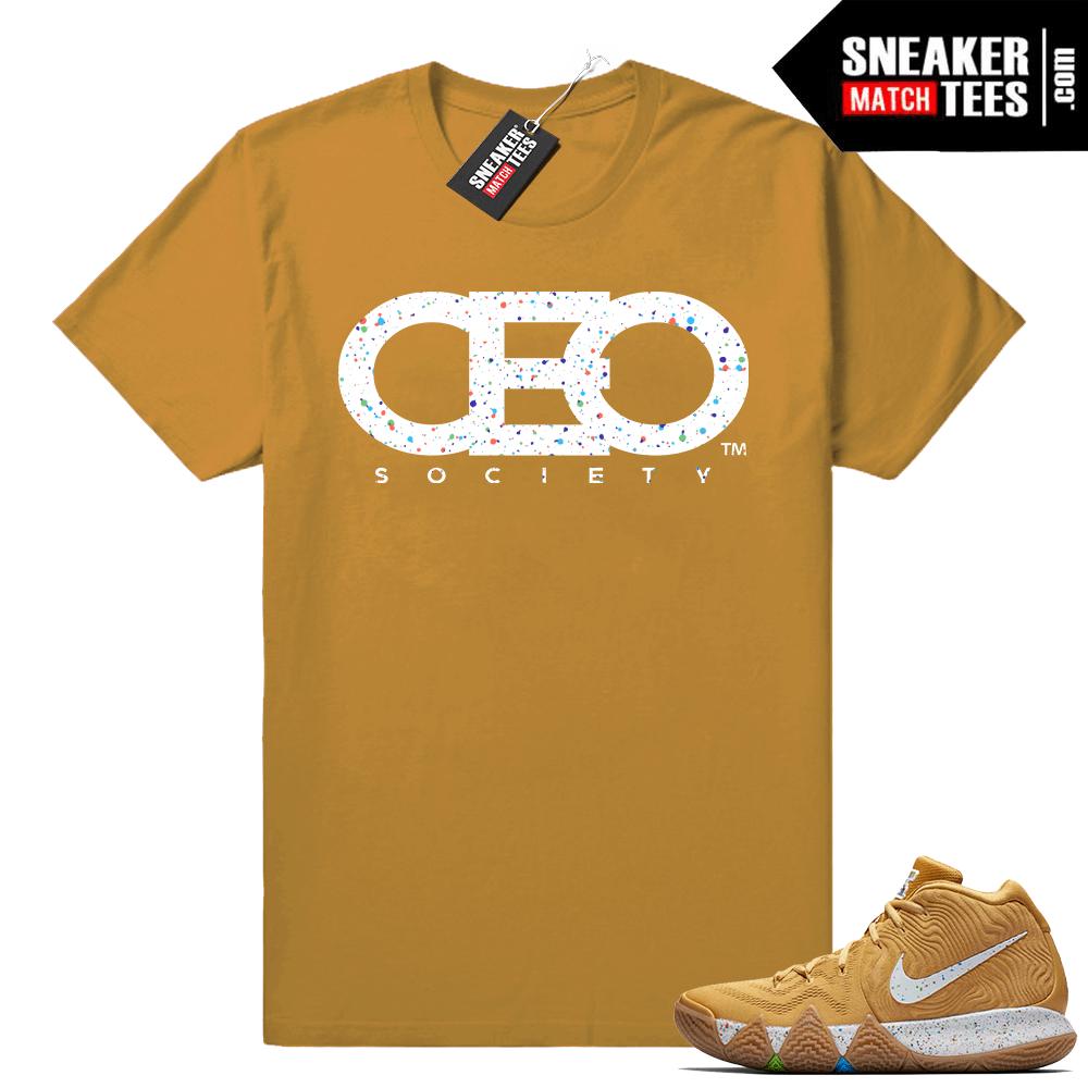 finest selection f874e 1116c Kyrie 4 Cinnamon Toast Crunch match tee • CEO Society • Wheat tee