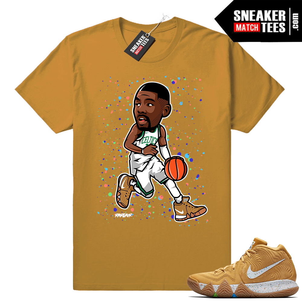 designer fashion 6f520 42f8f Kyrie 4 Cinnamon Toast Crunch t shirt • Kyrie toon • Wheat tee