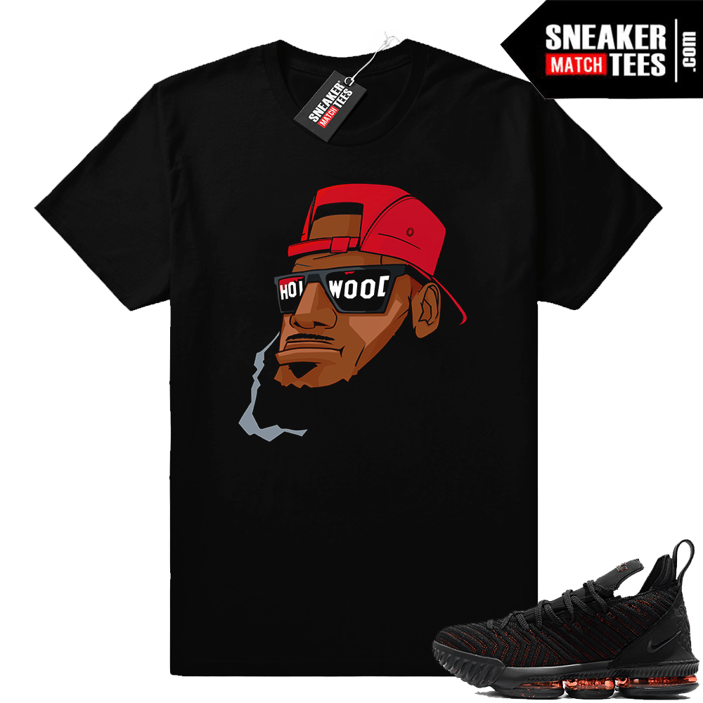329378118b8 Lebron 16 Bred Hollywood Bron shirt - Sneaker Match Tees