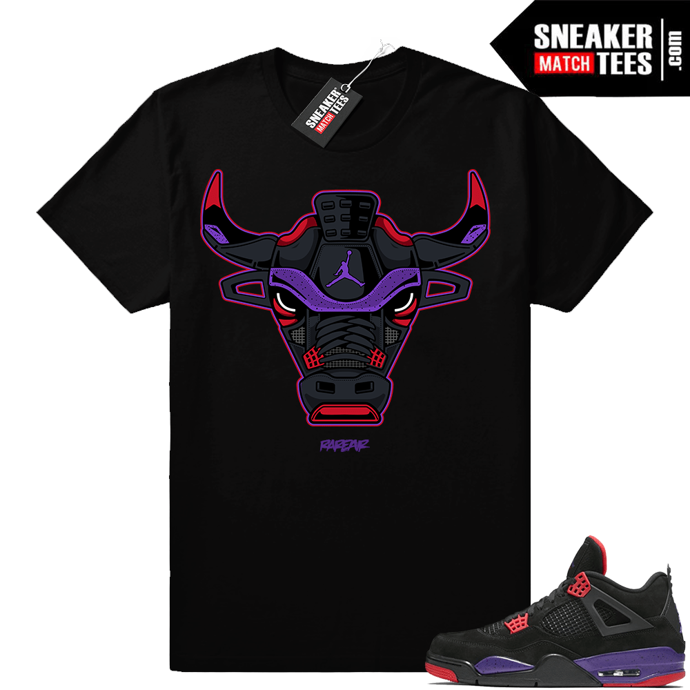 Raptors 4s Sneaker tee Shirts to Match