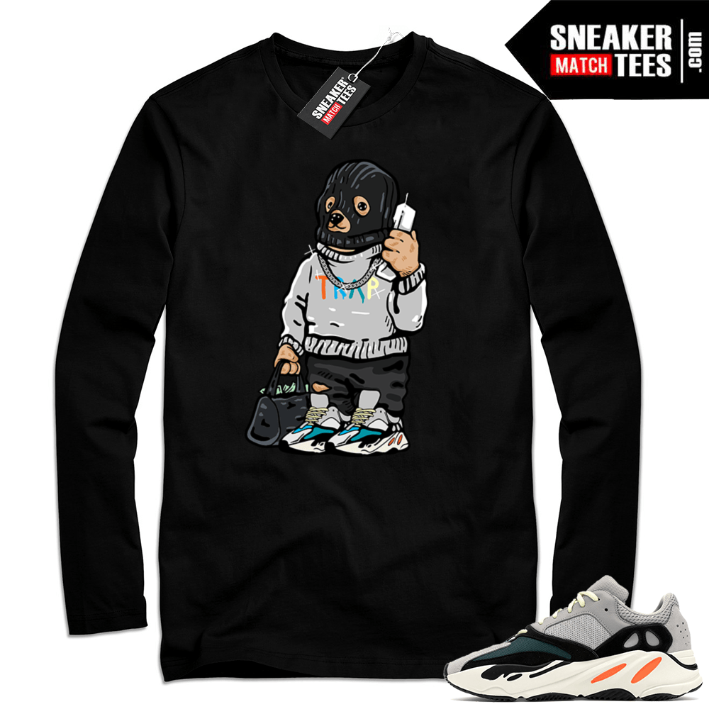 sports shoes ede29 9307b Yeezy Wave Runner | Ski Mask Trap Bear | Black Long Sleeve Shirt