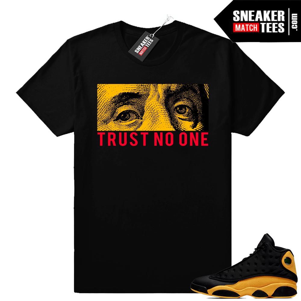 best service 35550 bbfe0 Match Air Jordan 13 shirt | Trust No One | Black shirt