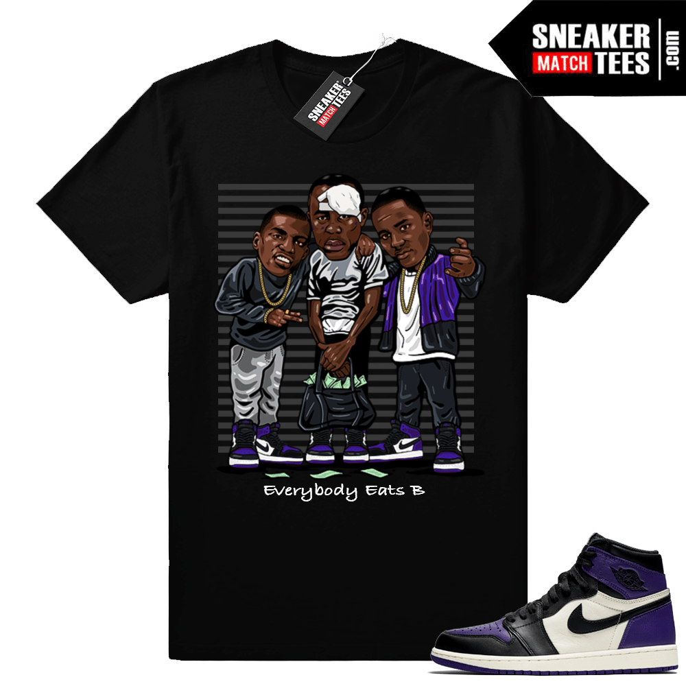Court Purple Jordan retro 1 shirt