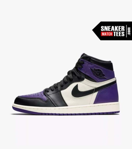Jordan 1 Court Purple Shirts match sneakers (2)