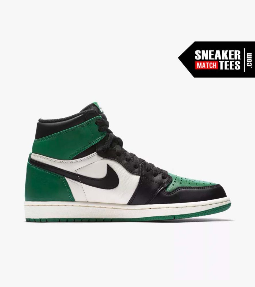 deaabf351b7 Jordan 1 Pine Green Shirts match sneakers