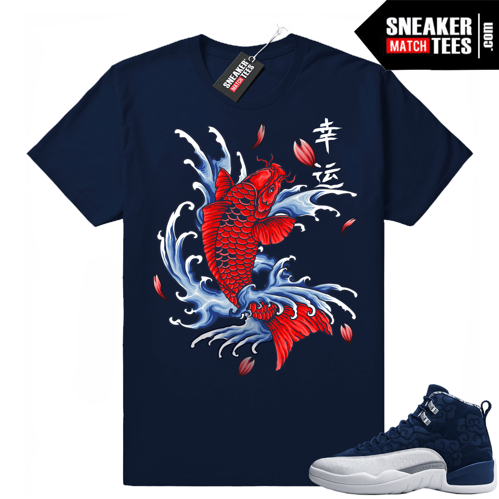 Jordan 12 Japan shirts to match