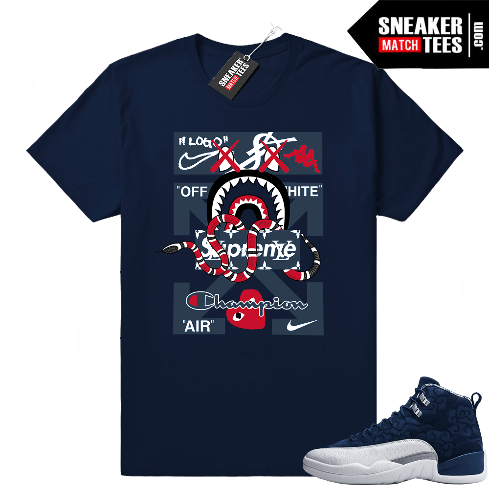 size 40 05d7f 09410 Jordan 12 shirt outfit International Flight | Sneaker Match Tees