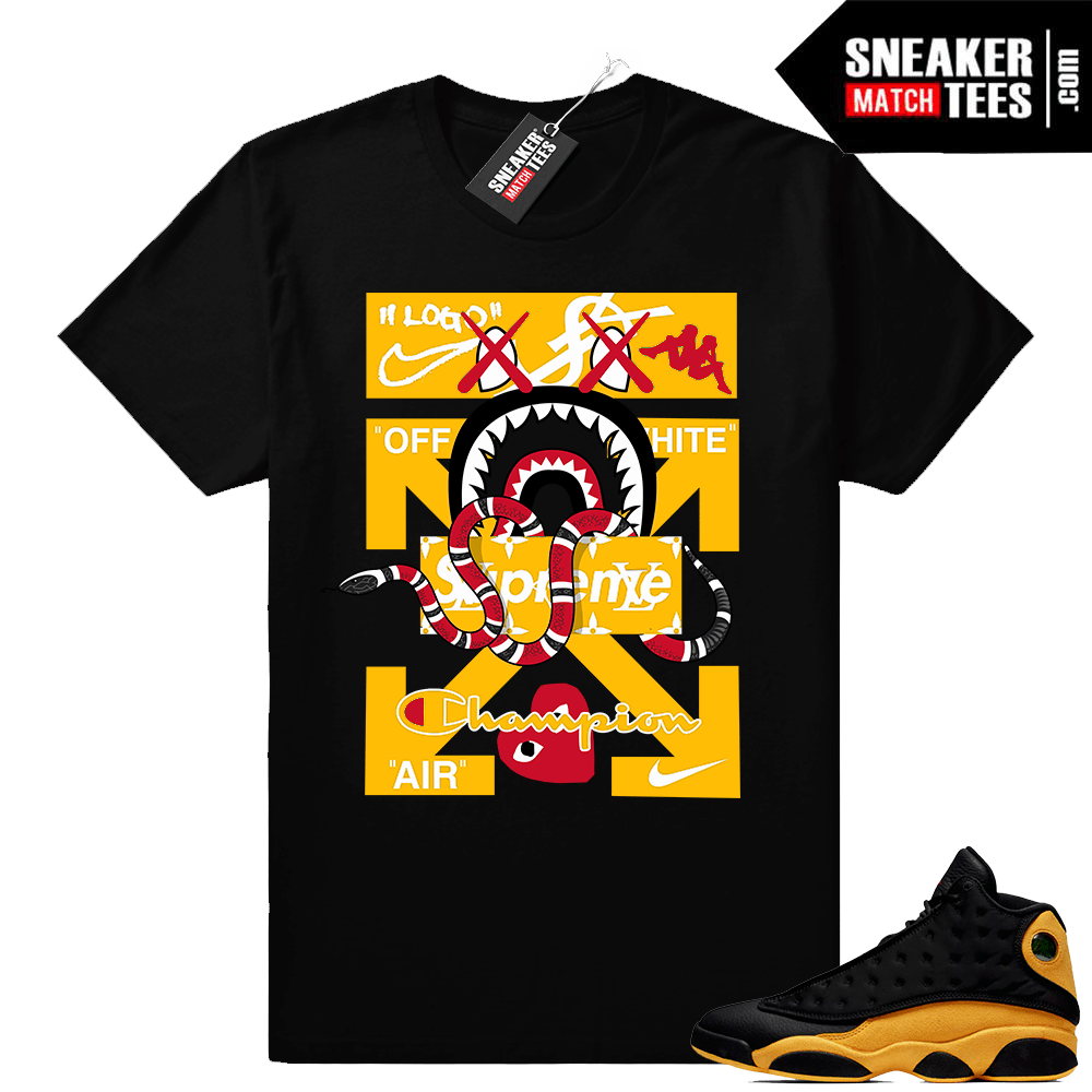 brand new d1e7a 6091f Match Jordan Retro 13 shirt | Designer Mashup | Black shirt