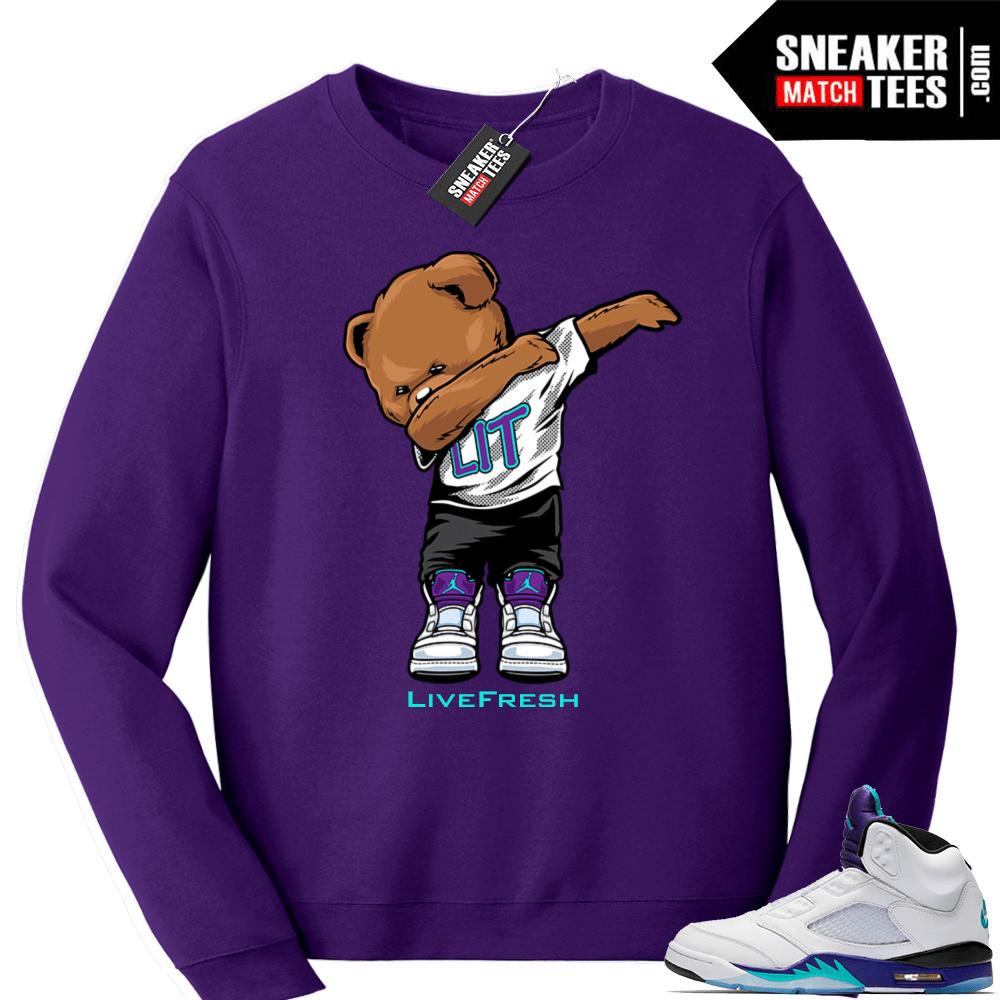 310ab8f3f6a5c5 Air Jordan 5 Grape Fresh Prince 2018 - Official Sneaker Match Tees