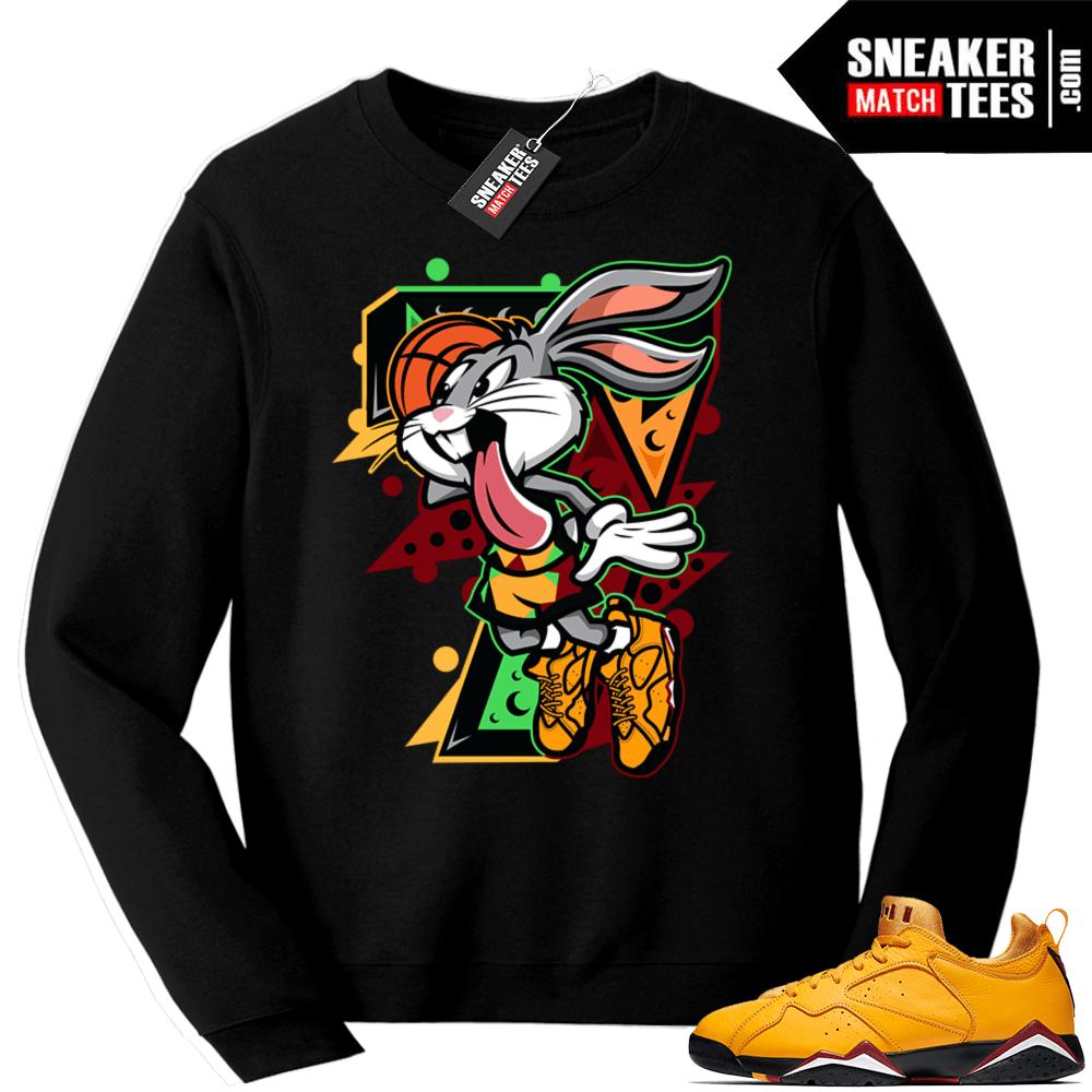 good d14c7 07eac Match Jordan 7 low Taxi sweatshirt | Air Bunny | Black Sweatshirt