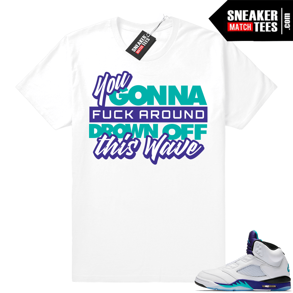 f51292054ca9 Air Jordan 5 Grape Fresh Prince 2018 - Official Sneaker Match Tees
