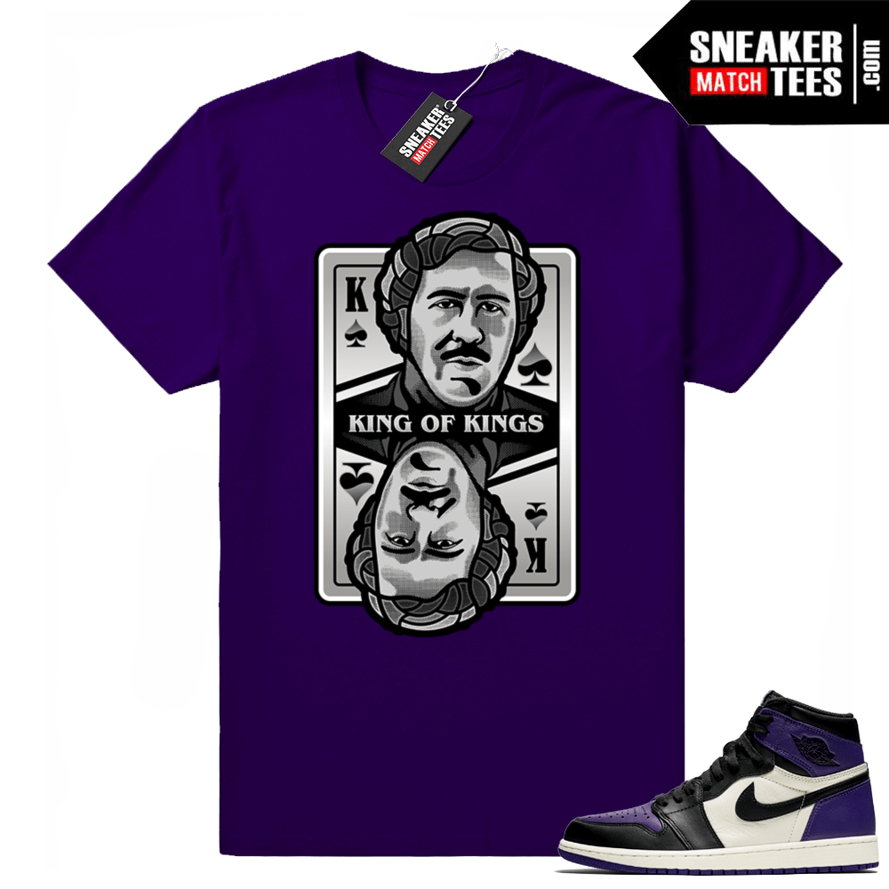 Pablo Escobar Court Purple 1 shirt