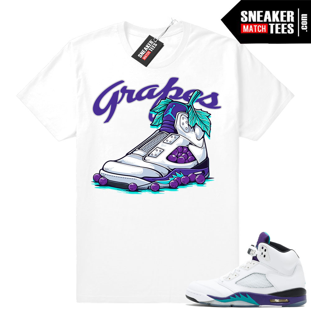 3db086abee7 T shirts matching Grape 5s Jordan Retros | Sneaker Match Tees