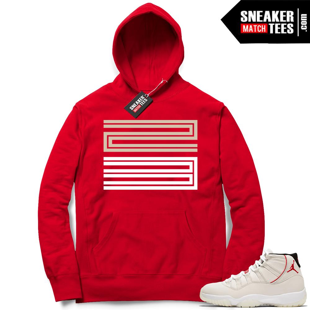 edf06431d76a Jordan 11 Platinum Tint shirts match sneakers