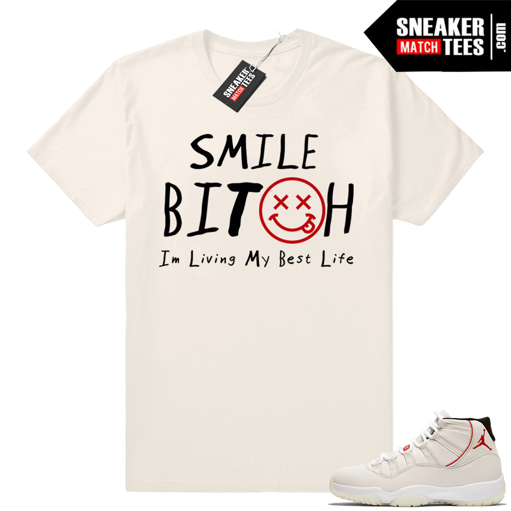 50a41e824571 Air Jordan 11 Platinum Tint T-shirt