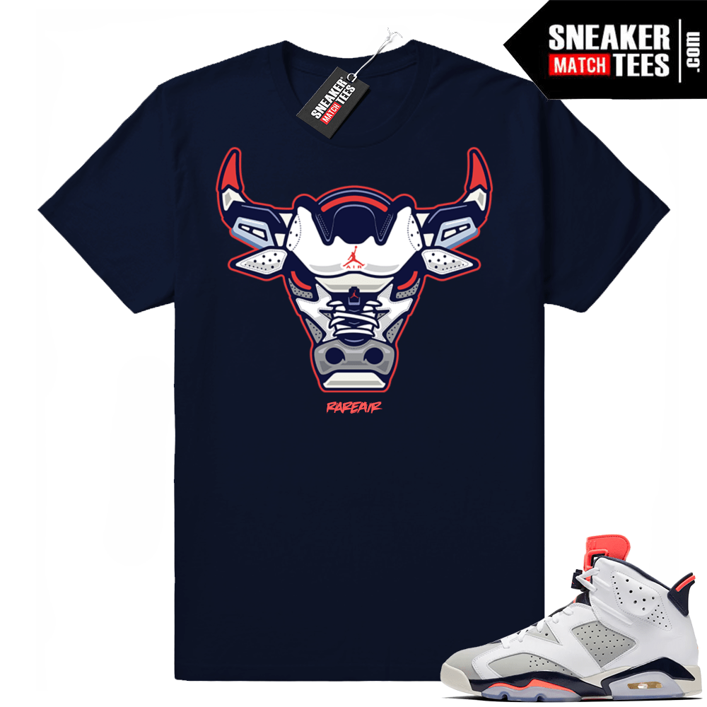 competitive price 3d874 d7acd Air Jordan 6 retro Tinker | Rare Air Bull | Navy Shirt