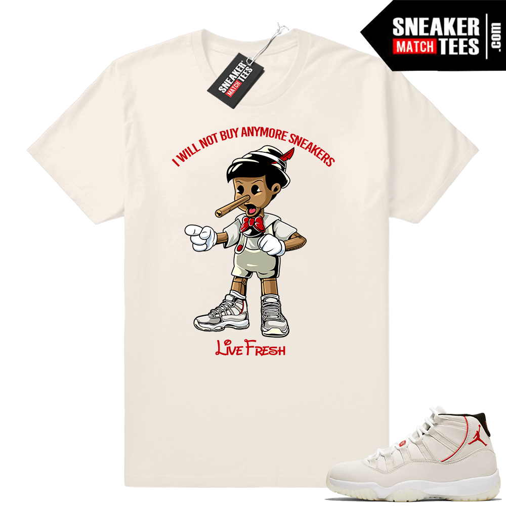 d3291896601 Jordan 11 Platinum Tint shirts match sneakers