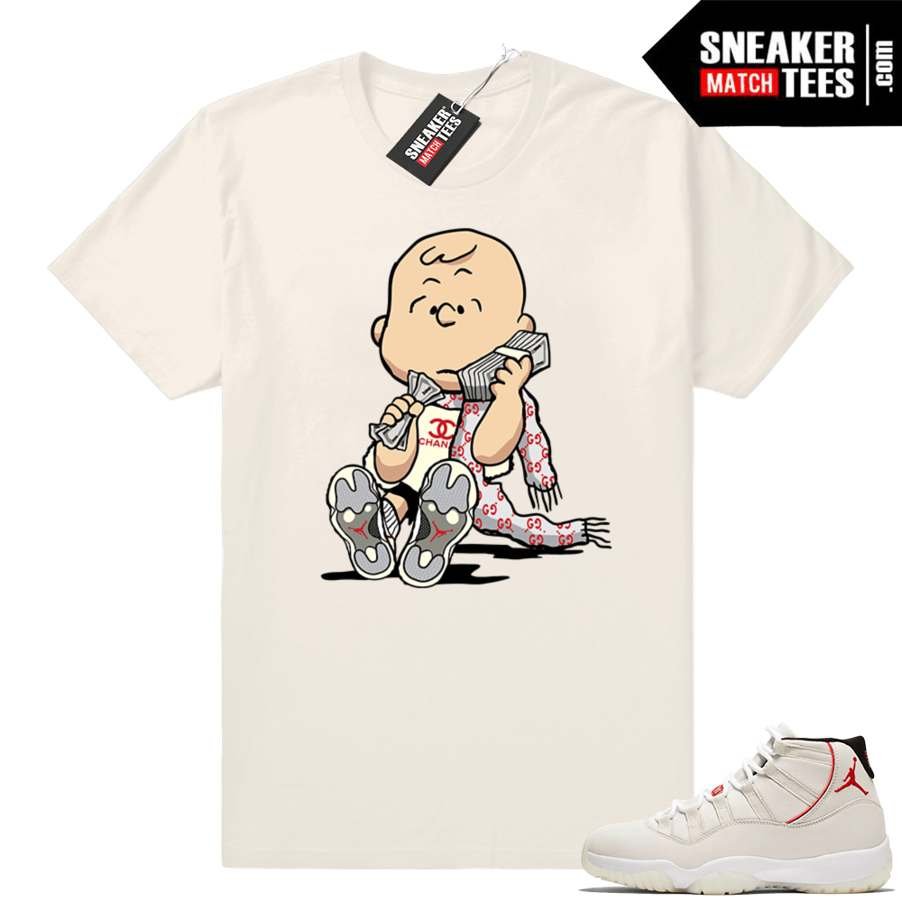 77da22eacfe Designer Charlie Brown Jordan 11 T-shirt | Sneaker Match Tees