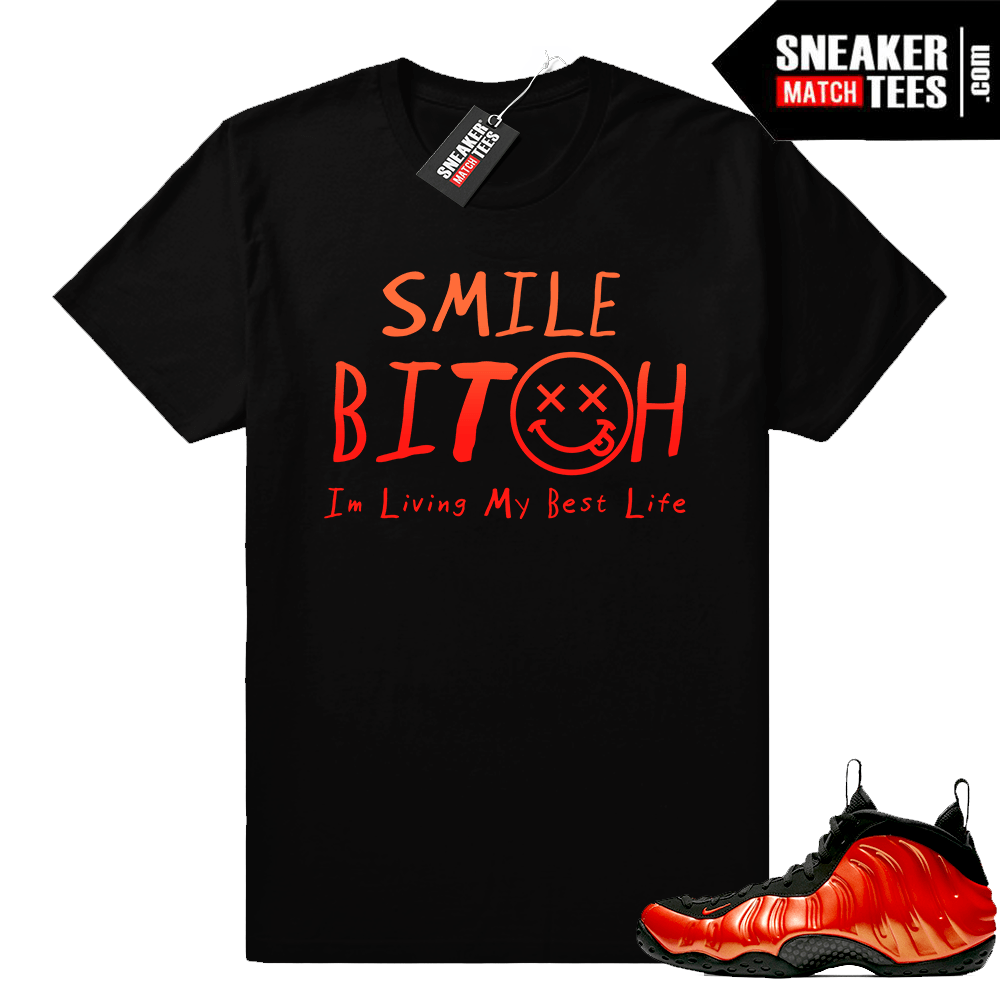 Habanero Foamposites Living My Best Life t-shirt