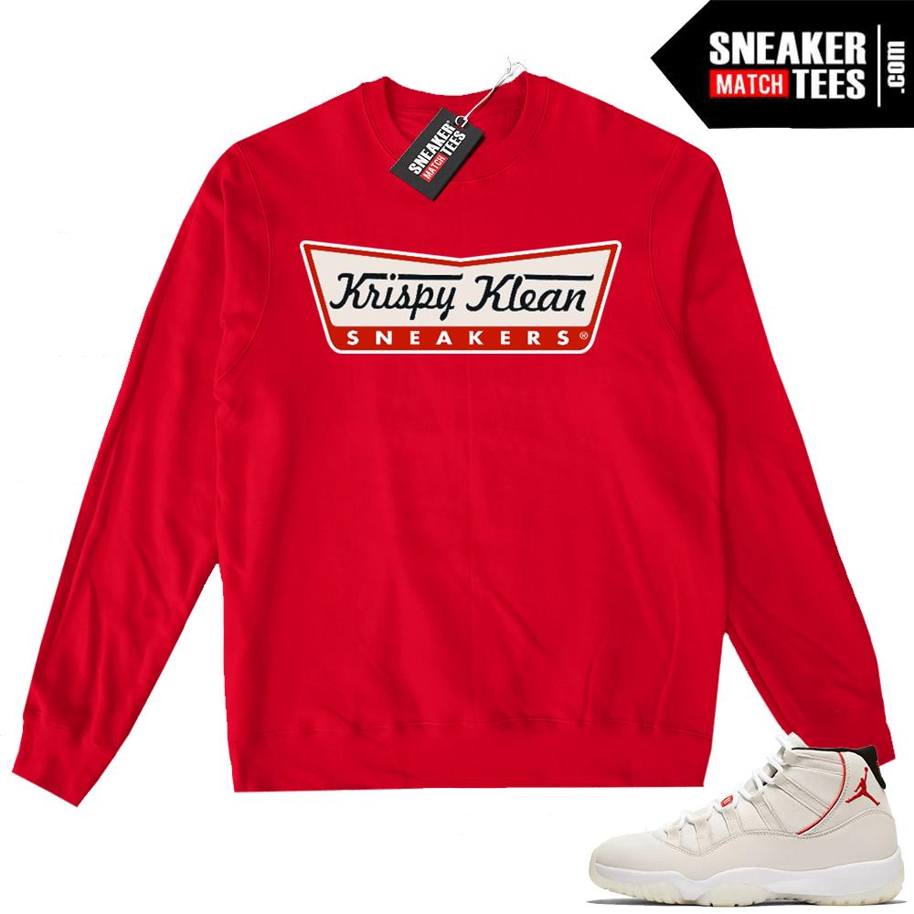 ec3be8561777 Jordan 11 Platinum Tint shirts match sneakers