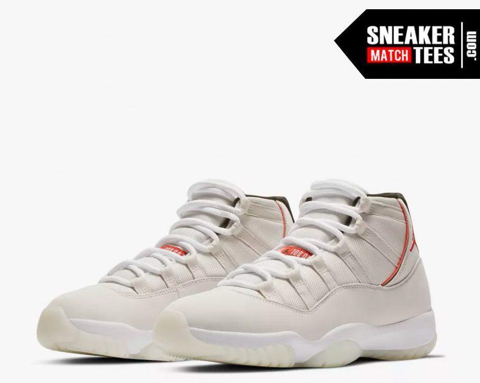 Jordan 11 Platinum Tink shirts match sneakers (1) a7c18b587