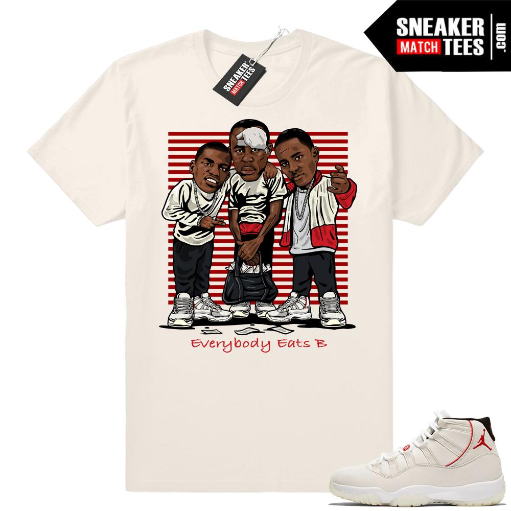 7e1d8a70e2f349 Jordan 11 Platinum Tint shirts match sneakers