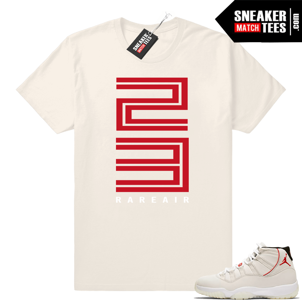 bce4071a2680d0 Jordan 11 Platinum tint shirt