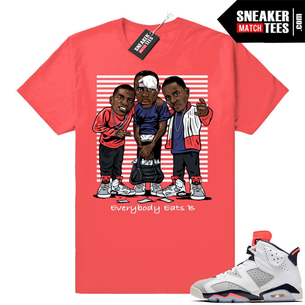 timeless design a025f 2371f Jordan 6 Tinker Sneaker Match | Everybody Eats B | Infrared Shirt