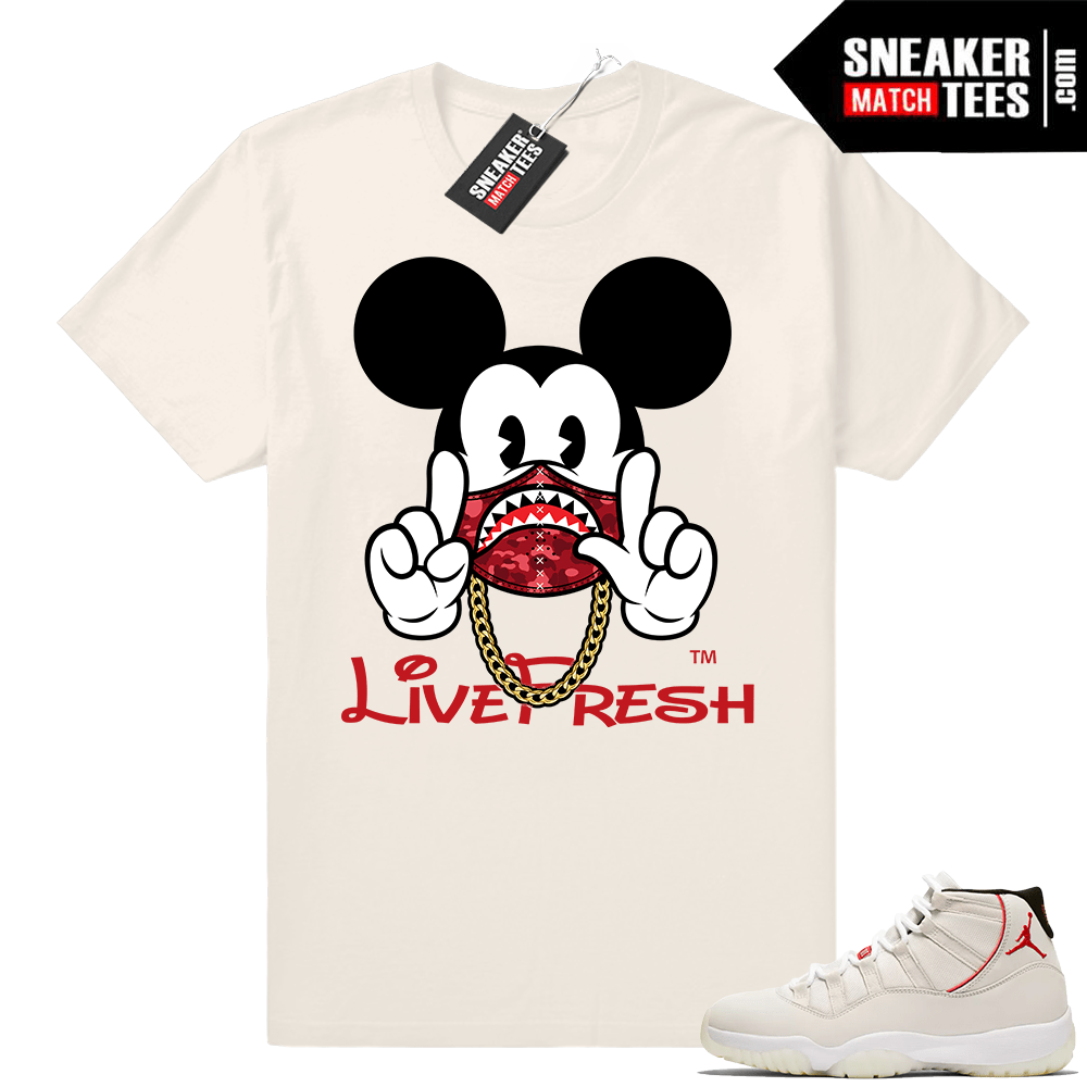 Jordan Platinum 11 Mickey shirt
