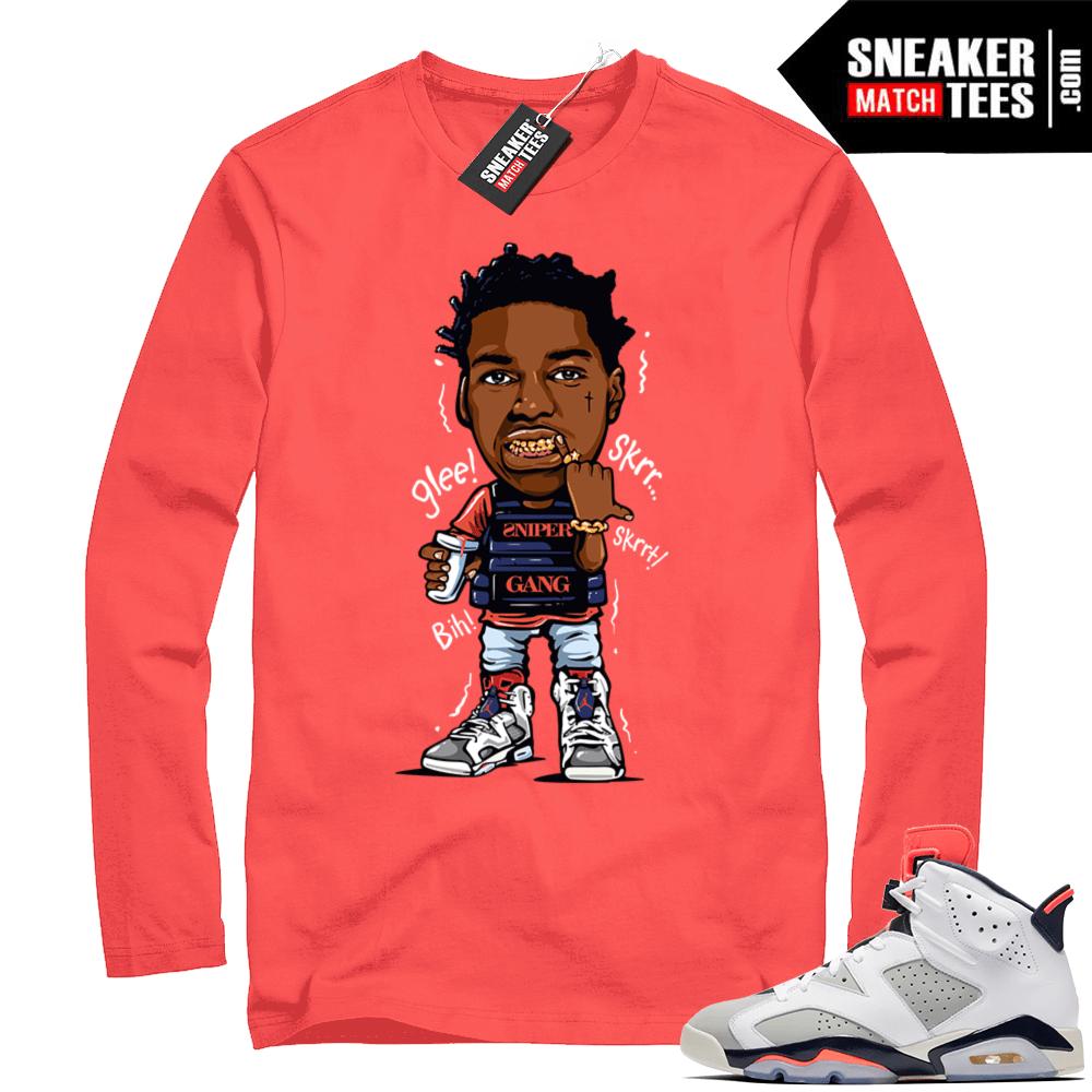 Kodak Black Sniper Gang Vest Infrared Shirt Sneaker Match Tees