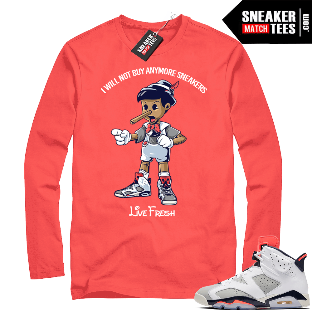 def8f48b3aa5 Match Air Jordan 6 Long Sleeve Tinker Shirt